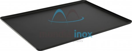 Aluminium pressed display tray - painted black