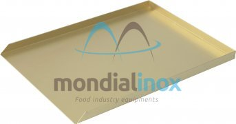 Aluminium bent and welded display tray, 3-sided - silver etched
