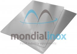 Aluminium flat baking tray, 1,5 mm thickness