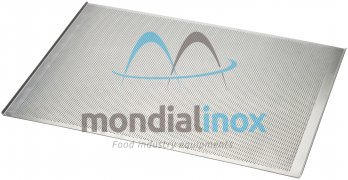 Baking tray, perforated 2 mm, 2 sided, side 45°