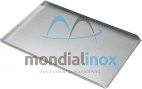 Baking tray, solid, 3 sided, side 90°