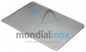 Baking tray, solid, 4 sided, side 45°