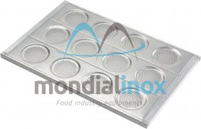 Aluminium Hamburger bun pans, perforated 3mm