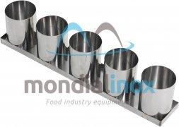 Stainless steel baking moulds, 5 moulds 9,5x12