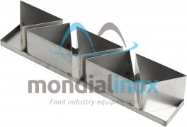 Stainless steel bakingmoulds, 5 moulds 16x10x11
