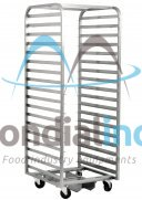 Stainless Steel, Baking Trolleys for Roto Passat ovens, 14 shelves, 10,5 cm between shelves