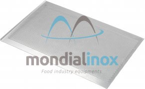 Baking tray, perforated 5 mm, 2 sided, side 45°