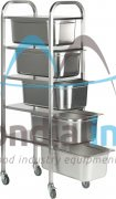 Chariot inox pour bac gastro GN 1/1