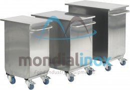 Stainless steel bag trolley, amount of flower: 50 kg