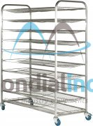 Stainless steel rack, for bread, type V