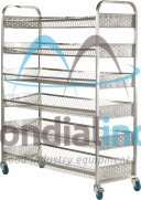 Stainless steel rack, for bread transport