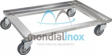 Stainless steel bread basket trolley