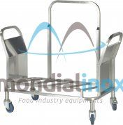 Stainless steel trolley for baking tray trolleys