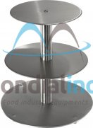 Stainless steel cake stands, Traditional, 3 tiers