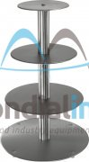Stainless steel cake stands, Traditional, 4 tiers