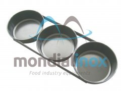 Set of 3 round aluminium loaf pans