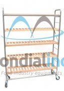 Shelf for tarts simple stainless steel with laths