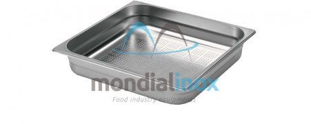 Stainless steel bin gastro GN 2/3 perforated