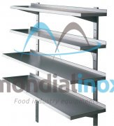 Stainless steel wall shelves with adjustable consoles